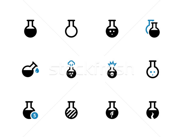 Flacon duotone icons on white background. Stock photo © tkacchuk