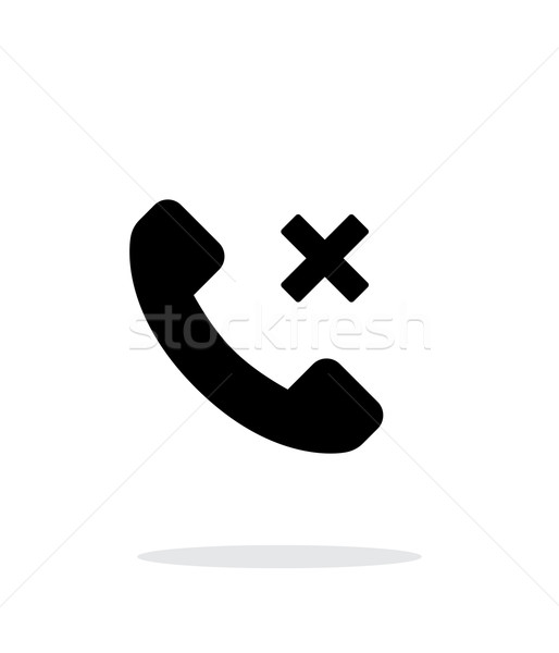 Phone call cancel simple icon on white background. Stock photo © tkacchuk