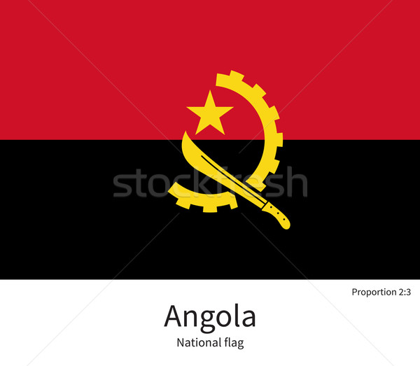 National flag of Angola with correct proportions, element, colors Stock photo © tkacchuk