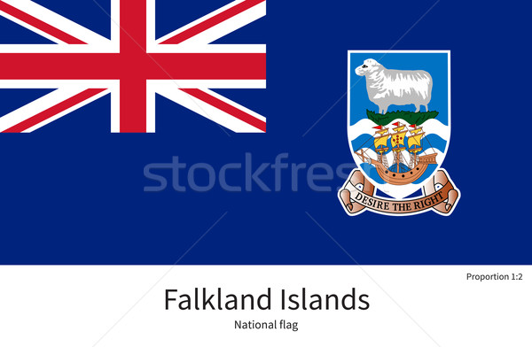 National flag of Falkland Islands with correct proportions, element, colors Stock photo © tkacchuk