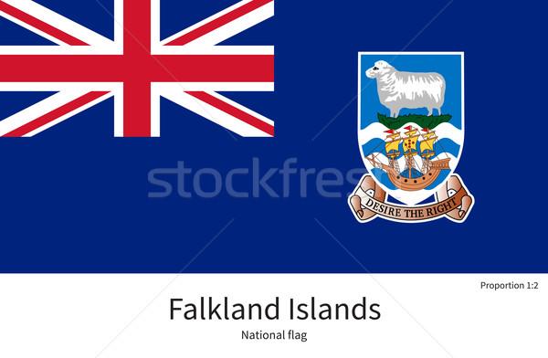 Zászló Falkland-szigetek helyes alkotóelem színek oktatás Stock fotó © tkacchuk