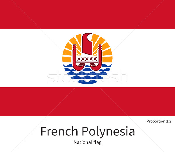 National flag of French Polynesia with correct proportions, element, colors Stock photo © tkacchuk