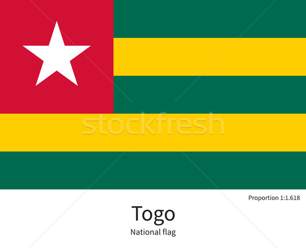 National flag of Togo with correct proportions, element, colors Stock photo © tkacchuk