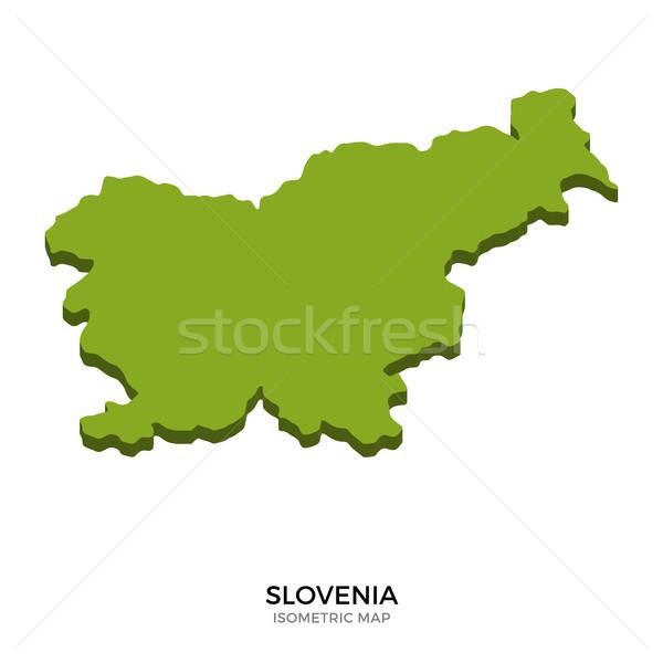 Isometric map of Slovenia detailed vector illustration Stock photo © tkacchuk
