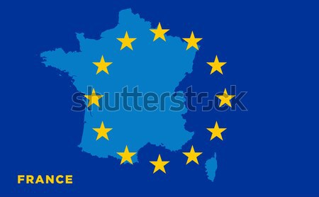 Flag of European Union with Bulgaria on background Stock photo © tkacchuk