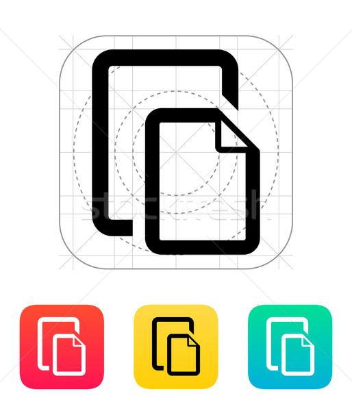 Two Files icon. Stock photo © tkacchuk