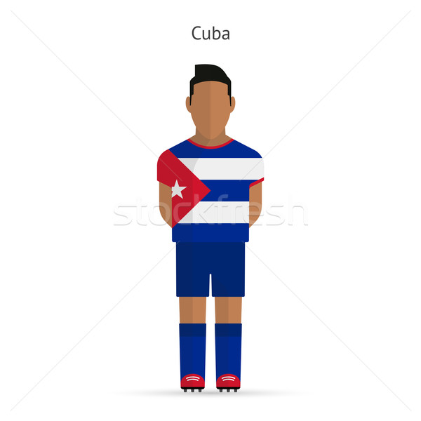 Куба футболист Футбол равномерный аннотация фитнес Сток-фото © tkacchuk