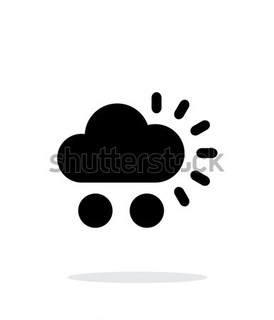 Cloudy weather icon on white background. Stock photo © tkacchuk