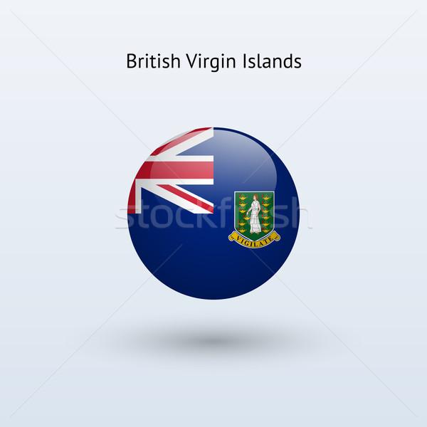 британский Виргинские о-ва флаг серый знак веб Сток-фото © tkacchuk