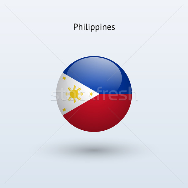 Filipinler bayrak gri imzalamak web seyahat Stok fotoğraf © tkacchuk