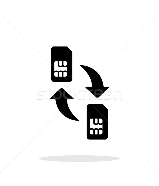 Replacement and exchange SIM cards simple icon on white background. Stock photo © tkacchuk