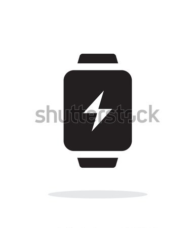 Charge sign in smart watch simple icon on white background. Stock photo © tkacchuk