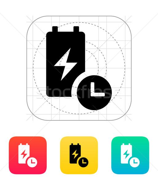 Bateria viver tempo ícone metal grupo Foto stock © tkacchuk