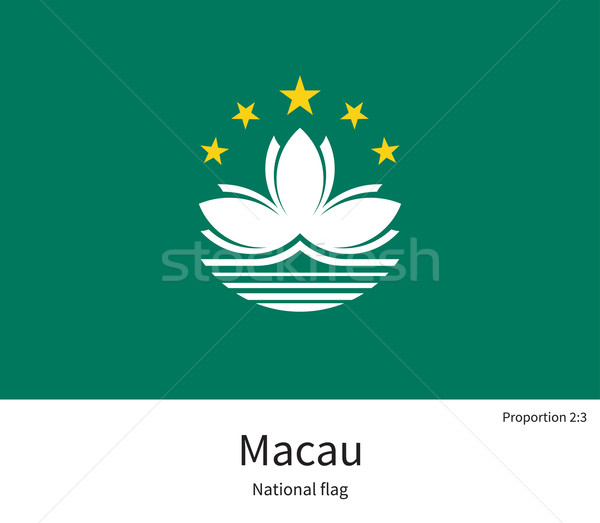 National flag of Macau with correct proportions, element, colors Stock photo © tkacchuk