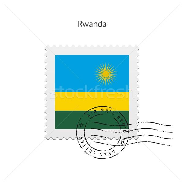 Ruanda zászló postabélyeg fehér felirat levél Stock fotó © tkacchuk