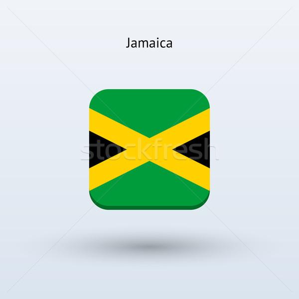 Jamaica vlag icon ontwerp teken web Stockfoto © tkacchuk