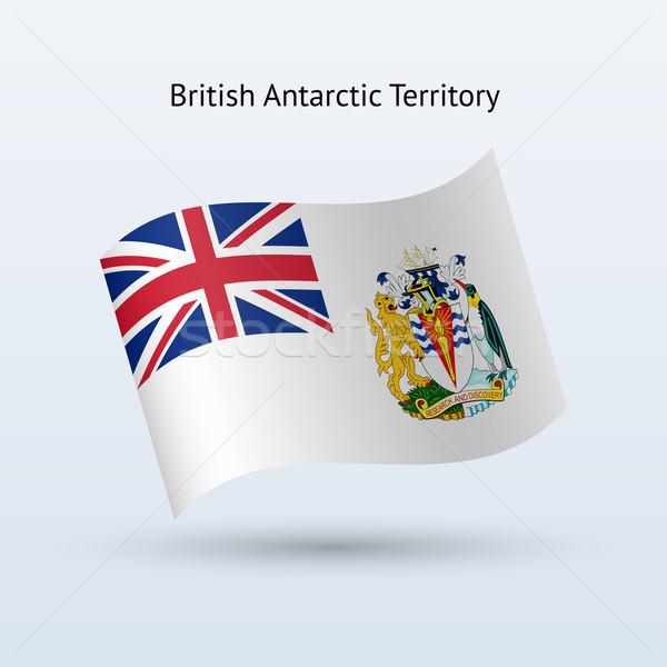 Brit terület zászló integet űrlap szürke Stock fotó © tkacchuk