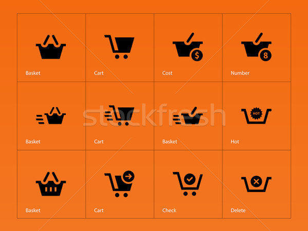 Kasse Symbole orange Business Design Laden Stock foto © tkacchuk