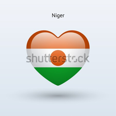 Love Niger symbol. Heart flag icon. Stock photo © tkacchuk