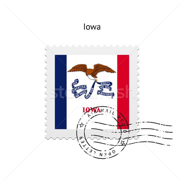 Iowa zászló postabélyeg fehér felirat levél Stock fotó © tkacchuk