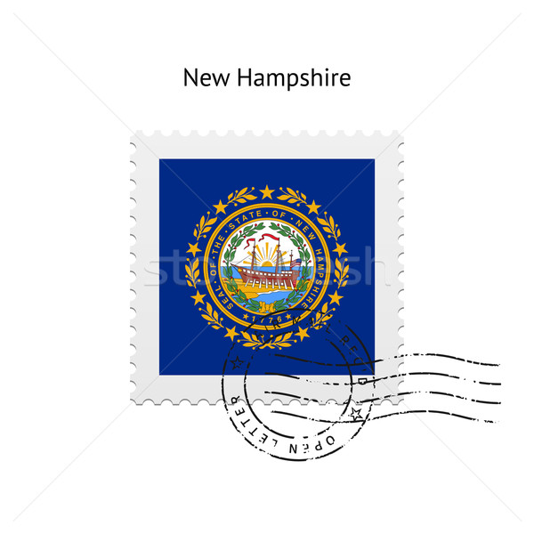 State of New Hampshire flag postage stamp. Stock photo © tkacchuk