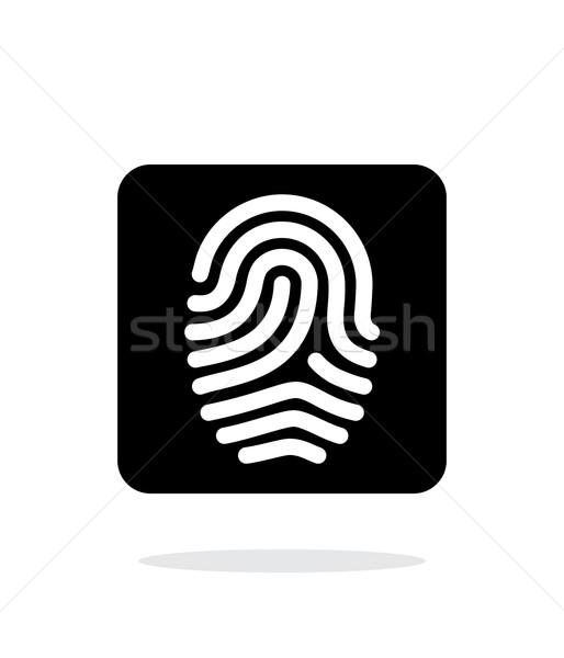отпечатков пальцев икона белый дизайна технологий безопасности Сток-фото © tkacchuk