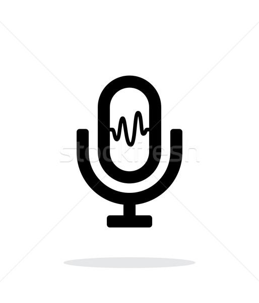 Microphone signal icon on white background. Stock photo © tkacchuk