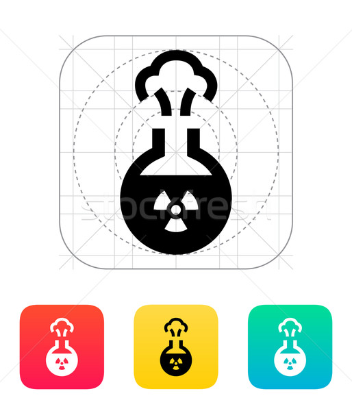 Florence flask with radiation icon. Vector illustration. Stock photo © tkacchuk