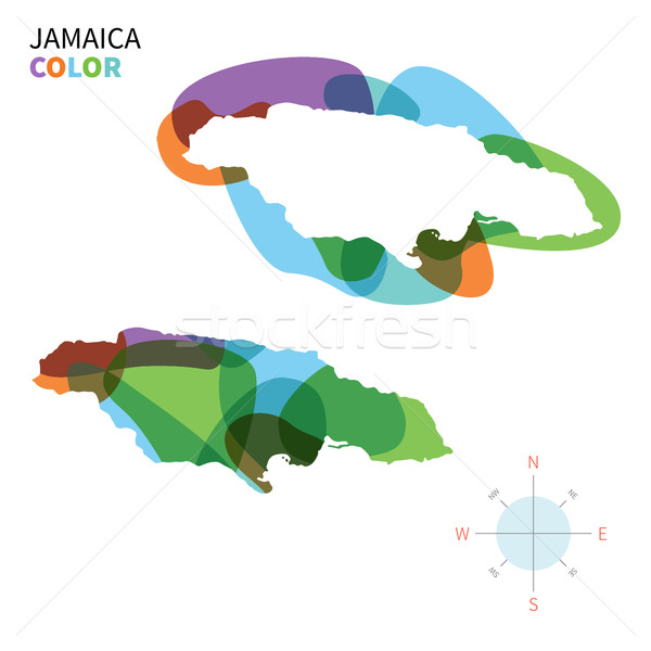Resumen vector color mapa Jamaica transparente Foto stock © tkacchuk