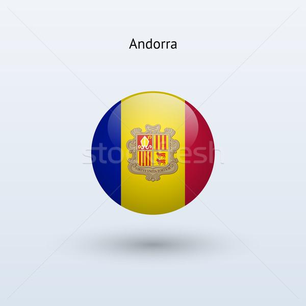 Andorra Flagge grau Zeichen Web Reise Stock foto © tkacchuk