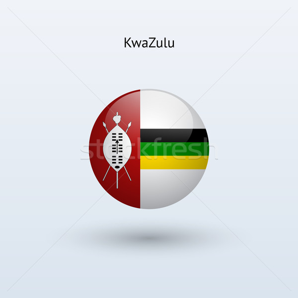 KwaZulu round flag. Vector illustration. Stock photo © tkacchuk