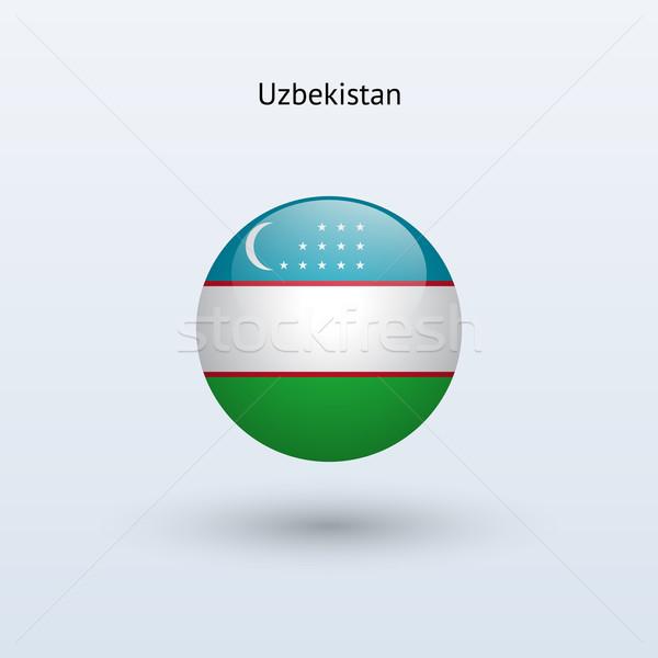 Узбекистан флаг серый знак веб путешествия Сток-фото © tkacchuk