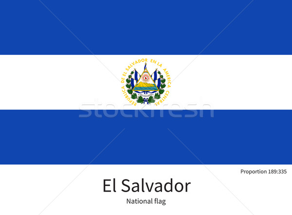 National flag of El Salvador with correct proportions, element, colors Stock photo © tkacchuk