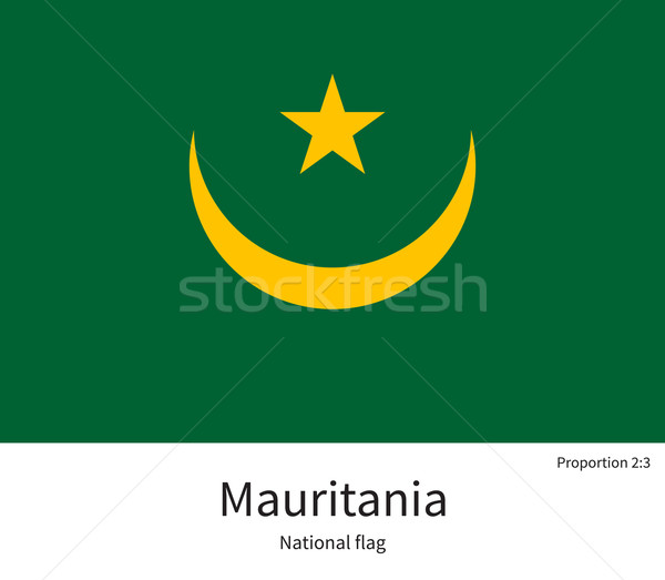 National flag of Mauritania with correct proportions, element, colors Stock photo © tkacchuk