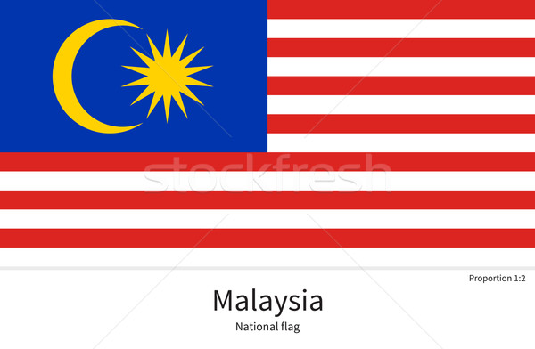 National flag of Malaysia with correct proportions, element, colors Stock photo © tkacchuk