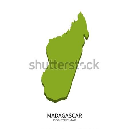Isométrique carte Madagascar détaillée isolé 3D Photo stock © tkacchuk