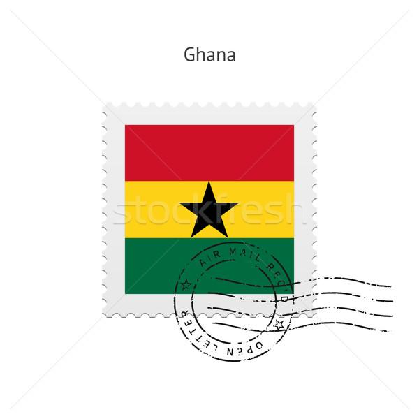 Ghana Flag Postage Stamp. Stock photo © tkacchuk