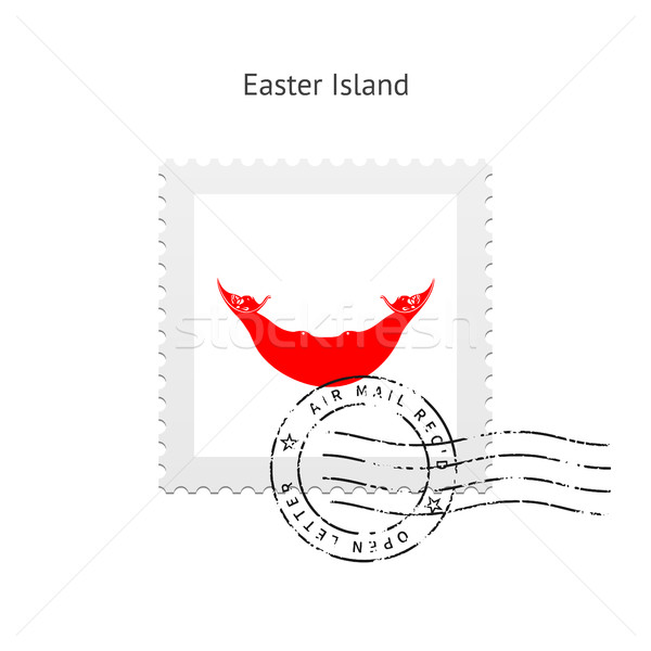 Easter Island Flag Postage Stamp. Stock photo © tkacchuk