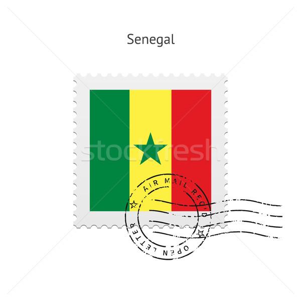 セネガル フラグ 白 にログイン 手紙 ストックフォト © tkacchuk