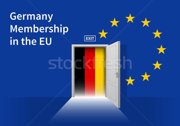 европейский Союза флаг стены двери Евросоюз Сток-фото © tkacchuk