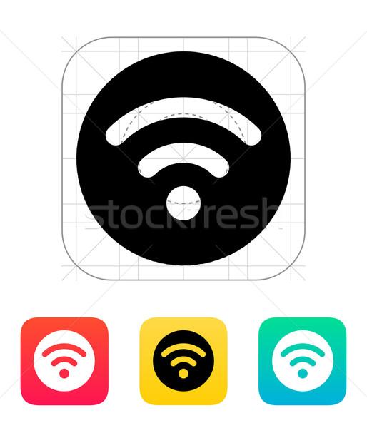 Stock photo: Radio signal icon.
