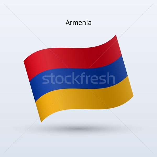 アルメニア フラグ フォーム グレー 旅行 ストックフォト © tkacchuk