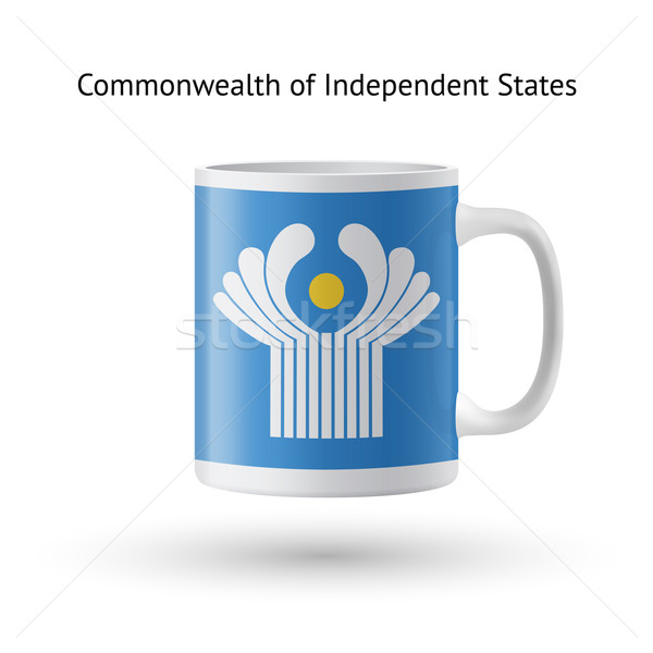 Commonwealth of Independent States flag souvenir mug on white background. Stock photo © tkacchuk