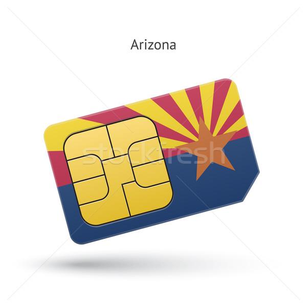 State of Arizona phone sim card with flag. Stock photo © tkacchuk