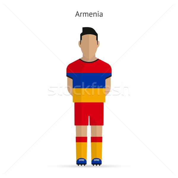Armênia futebol uniforme abstrato fitness Foto stock © tkacchuk