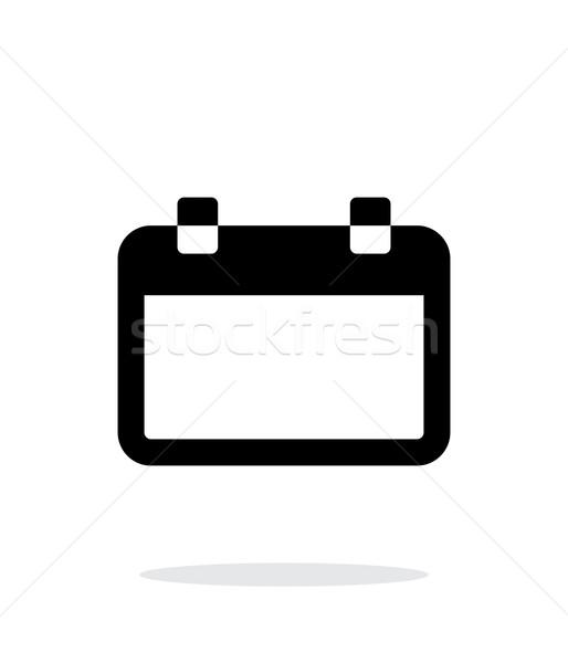 Kalender eenvoudige icon witte ontwerp plan Stockfoto © tkacchuk