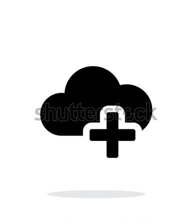 Felhő alapú technológia meg egyszerű ikon fehér internet Stock fotó © tkacchuk