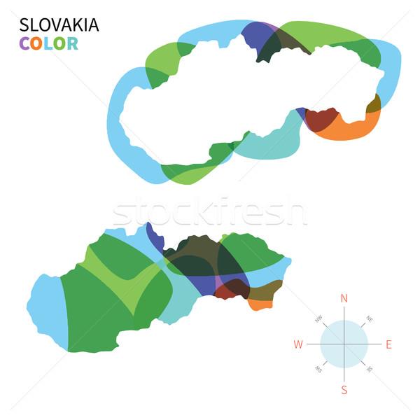 Abstrato vetor cor mapa Eslováquia transparente Foto stock © tkacchuk