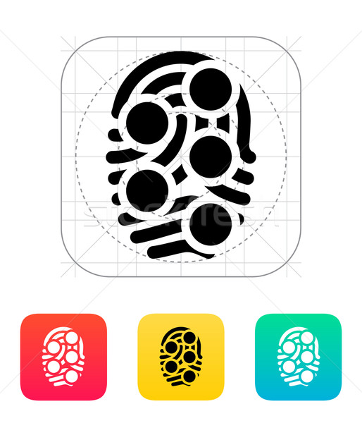 Fingerprint loop type scan icon. Stock photo © tkacchuk