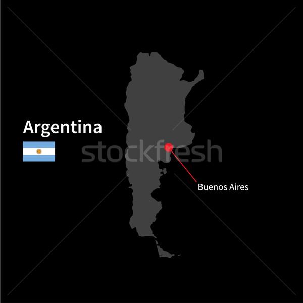 Détaillée carte Argentine ville Buenos Aires pavillon Photo stock © tkacchuk
